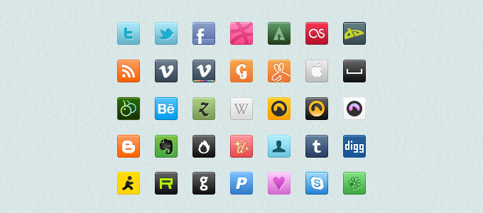 free-social-icoon-sets