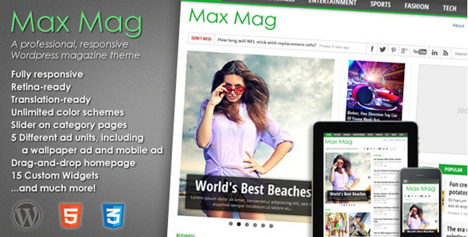 Wordpress Magazine Theme 20 Best Wordpress Magazine Themes