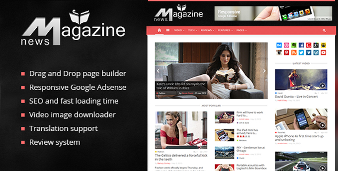 Wordpress Magazine Theme11 20 Best Wordpress Magazine Themes