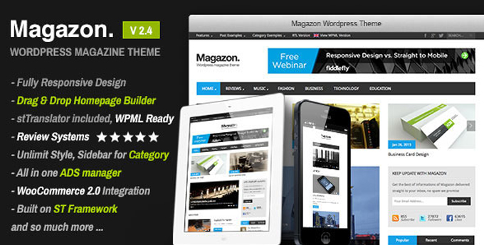 Wordpress Magazine Theme4 20 Best Wordpress Magazine Themes