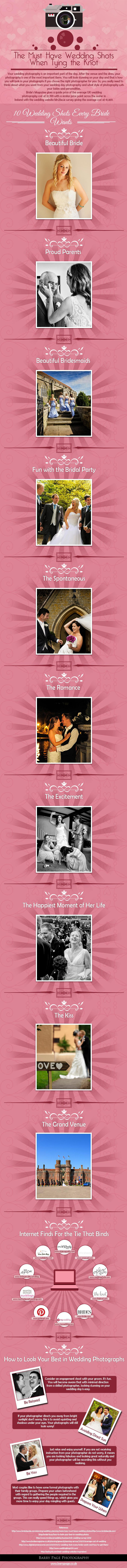 The Must Have Wedding Shots, When Tying the Knot- A Complete Infographic