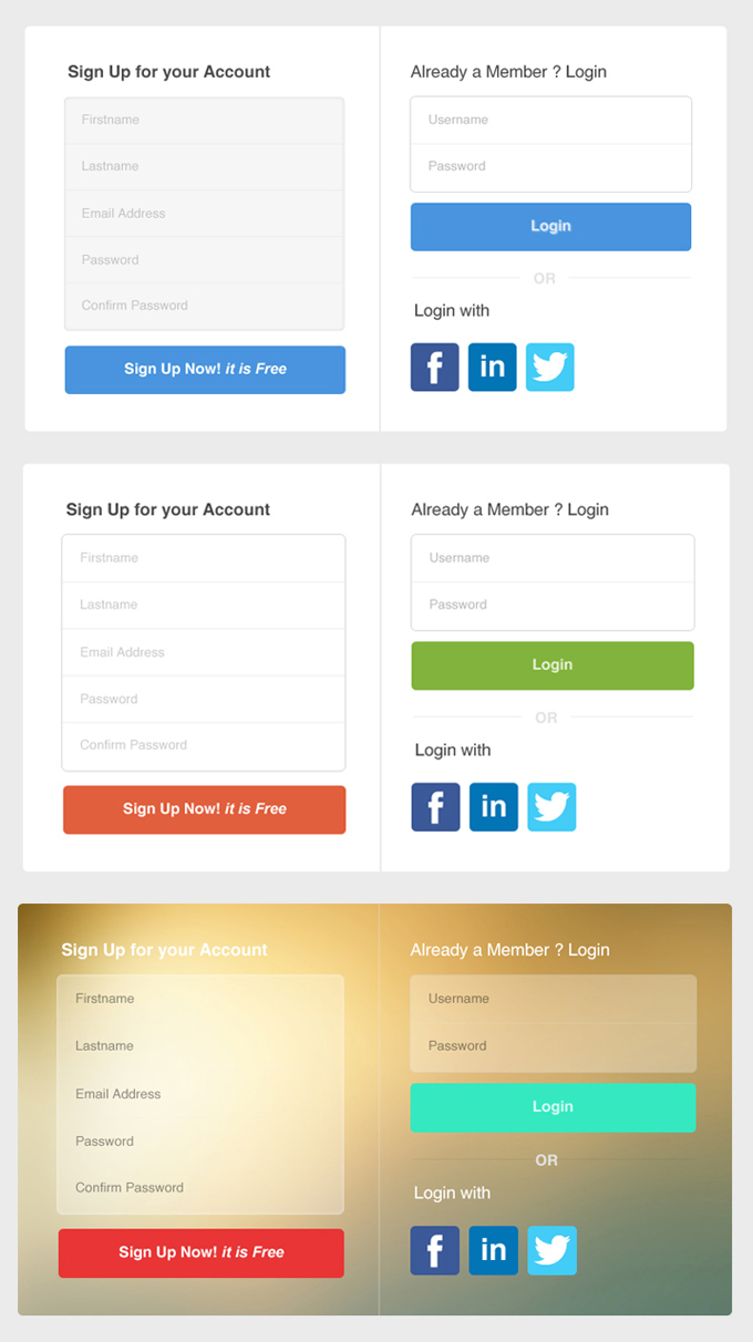 web-forms-psd-templates